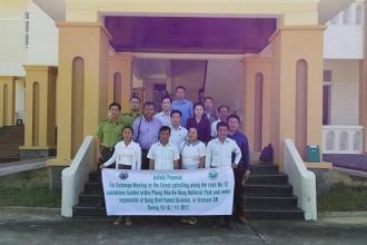 Đoàn cán bộ Sở Nông Lâm nghiệp tỉnh Khăm Muộn làm việc tại Ban quản lý Vườn Quốc gia Phong Nha – Kẻ Bàng